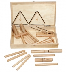 Goldon Percussion Set 1 in Wood Box